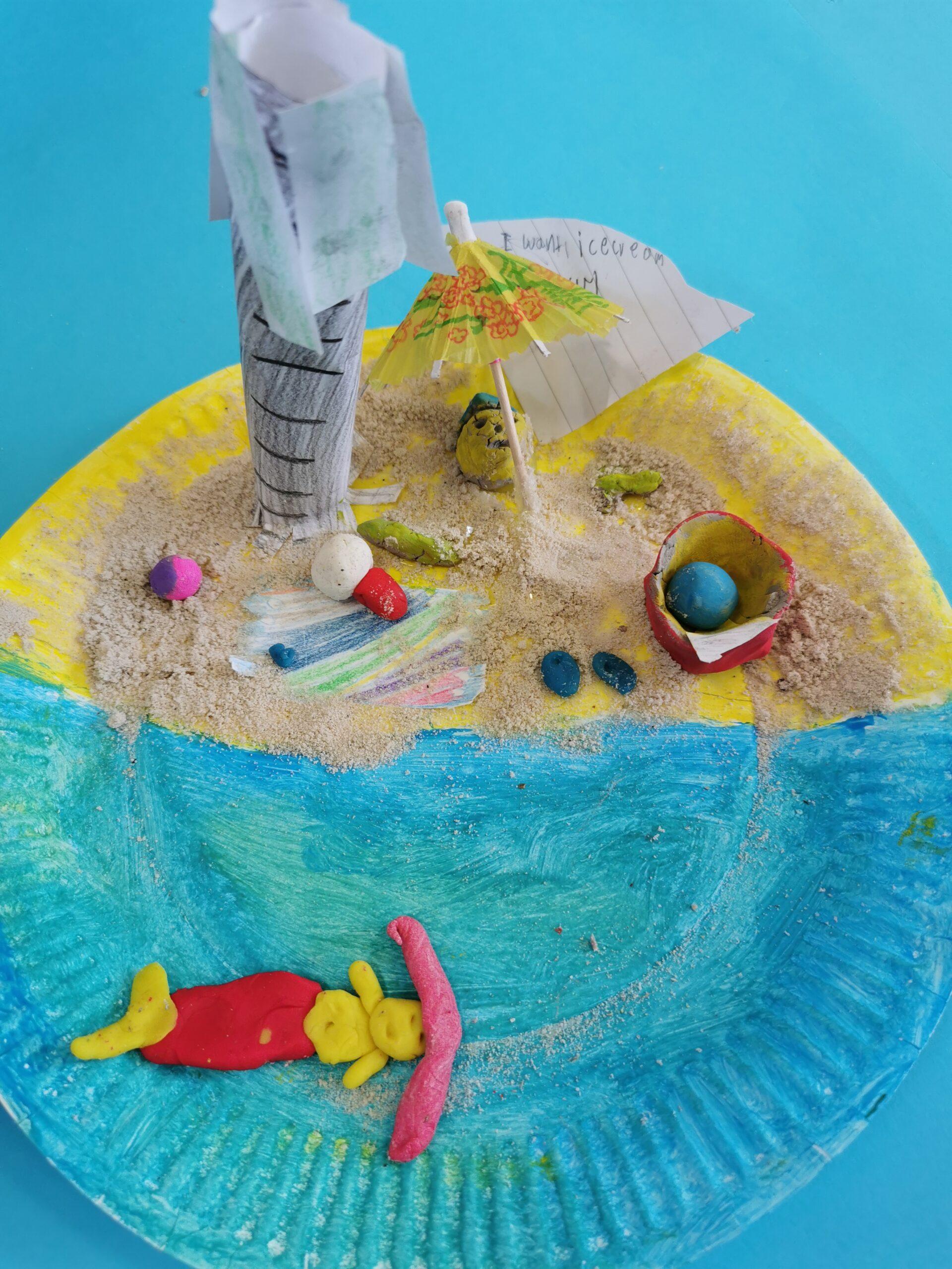 Beach Themed Art from 1st & 2nd Class